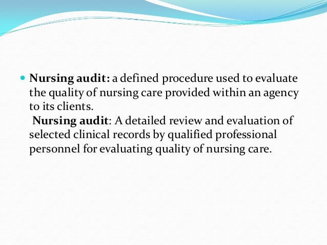 processes involved in performing a strategic audit nursing essay The various stages in the process of planning are as follows: 1 goal setting: plans are the means to achieve certain ends or objectives therefore, establishment of organizational or overall objectives is the first step in planning.