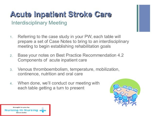 Case Study for Stroke Awareness Month - PRIME Education