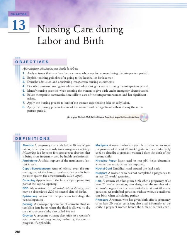 care of client in labor and delivery essay