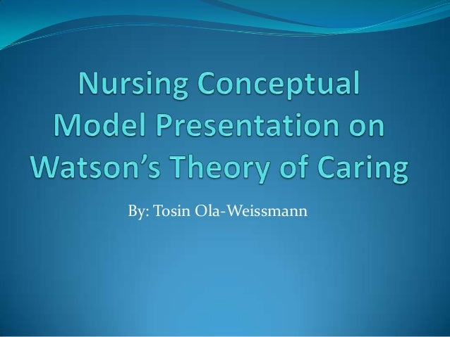 nursing conceptual model from topic 2 and prepare a 12 slide powerpoint presentation about the model A nursing model that takes into account both the art and science of nursing-considering mind,  answer 2 one of watson's  powerpoint presentation.