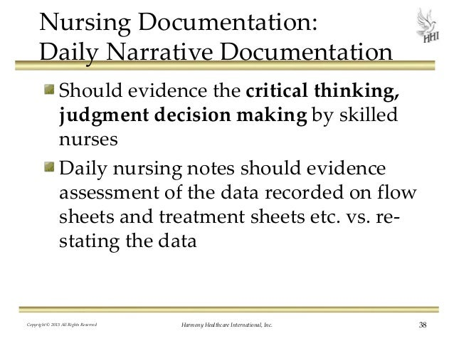 Critical Thinking Examples In Nursing