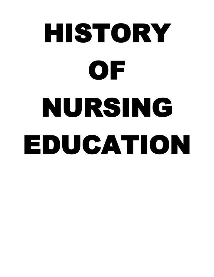 History of Nursing education