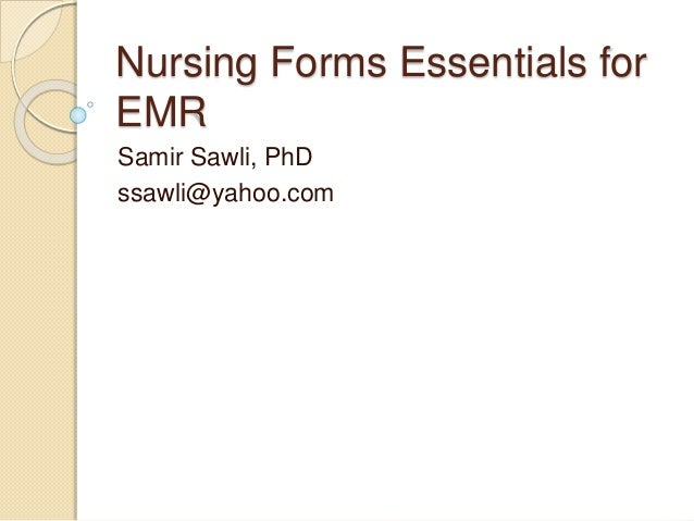Electronic Nursing Documentation Forms Essentials