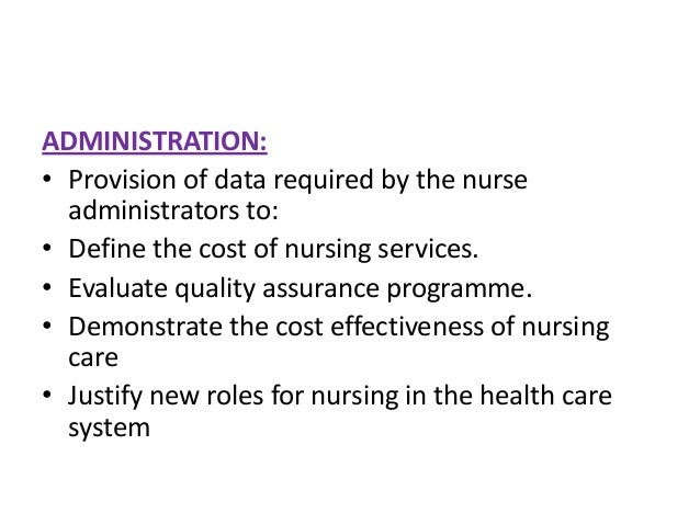 """role of nursing informatics in health care Information science to manage and communicate data, information, knowledge, and wisdom in nursing practice"""" (ana, 2008) nurses have become key participants in developing the infrastructure for health care information technology nursing informatics performs a critical role in advocating for patients and nurses who."""