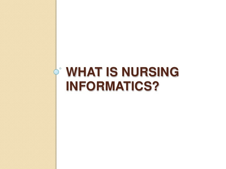 Thesis for nursing informatics theory and application