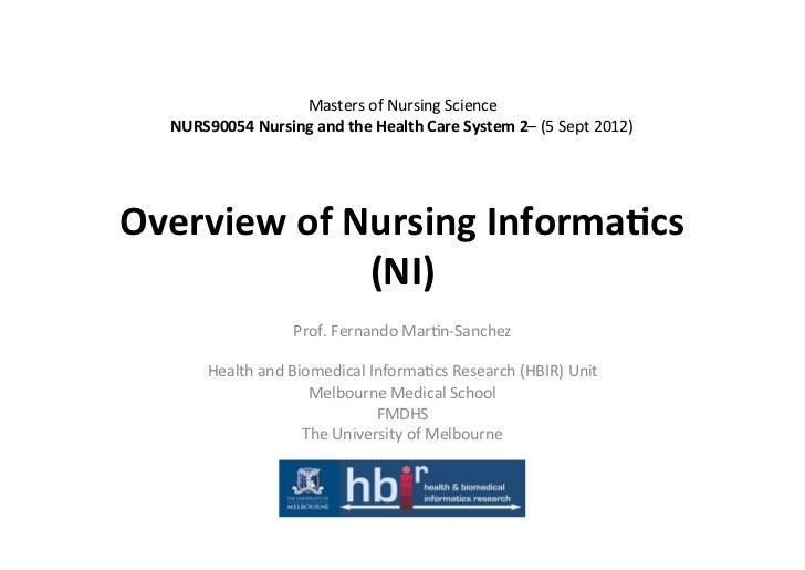 Masters of Nursing Science    NURS90054 Nursing and the Health Care System ...
