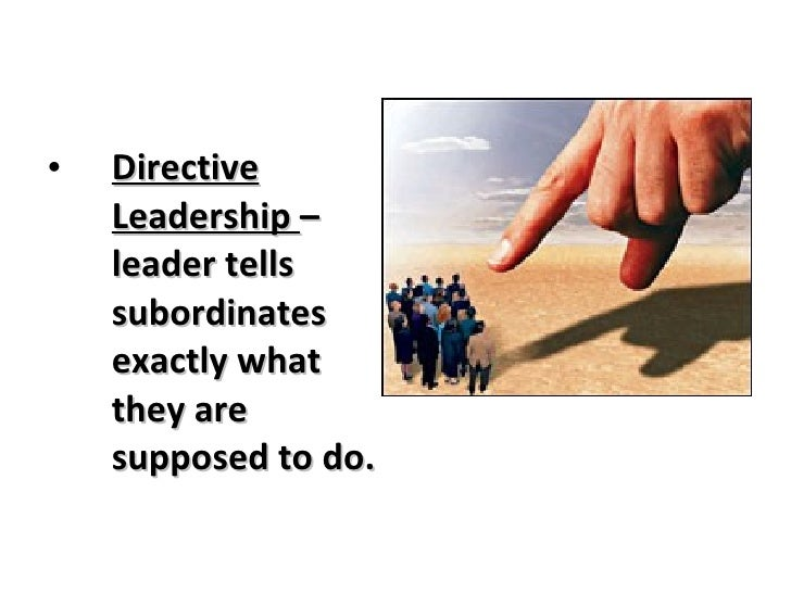 directive leadership Directive leadership whereby the two variables when combi ned account for lesser pro portions of variances on all the variables respectively than participat ive leadership alone 9.