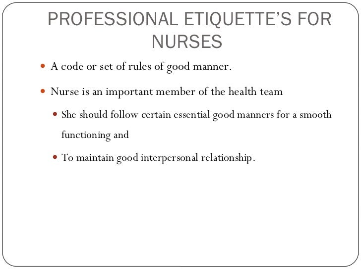 Characteristics of Professional Nursing