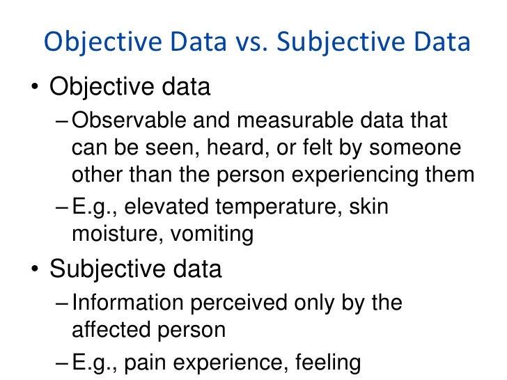 Subjective essay