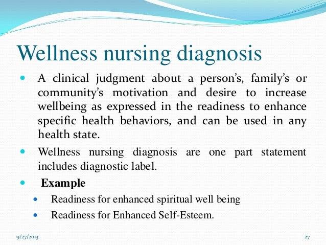 Nursing Diagnosis - Essay Example - Bla Bla Writing