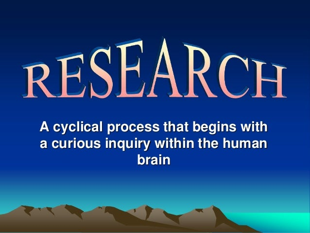 A cyclical process that begins with a curious inquiry within the human brain
