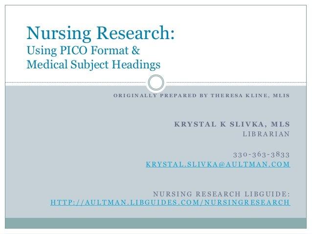 nursing research tools