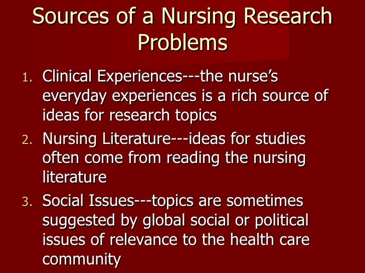Thesis titles in nursing research