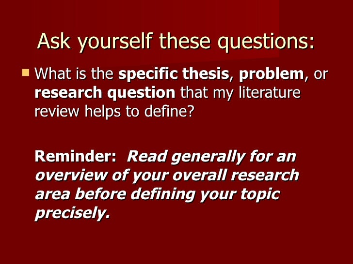 what is the purpose of a literature review in a research article The purpose of a literature review is to: you don't want to substitute a thorough review of core research literature.