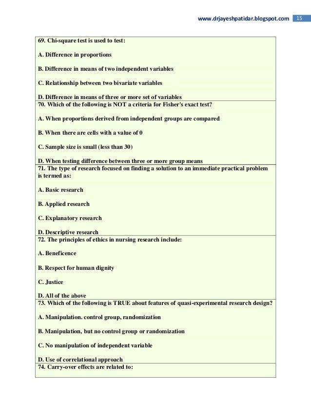 Research Aptitude - MCQs with answers - Part 1