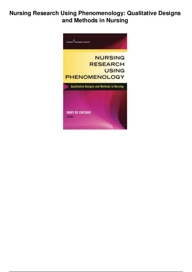phenomenological qualitative research and research methodology