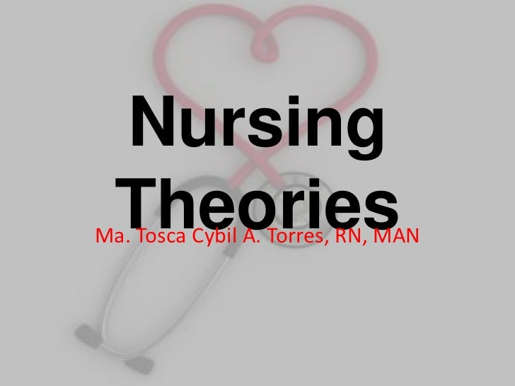 Nursing   Theories Ma. Tosca Cybil A. Torres, RN, MAN