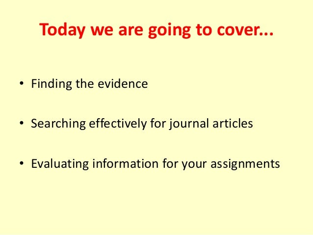 Search strategy for nursing dissertation