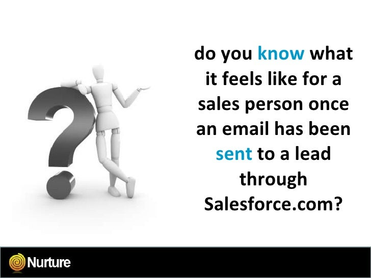 do you  know  what it feels like for a sales person once an email has been  sent   to a lead through Salesforce.com?