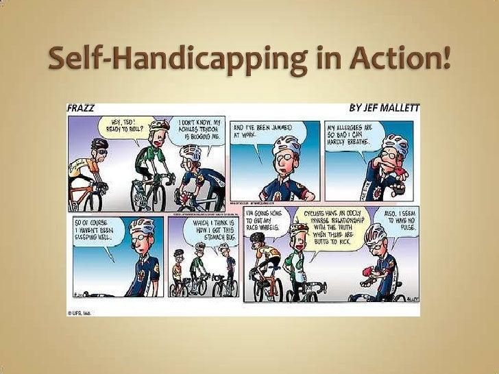 visualization on how self handicapping can lead Exploring the negative consequences of can lead individuals to actually perform might try to cope with stereotype threat by self-handicapping their.