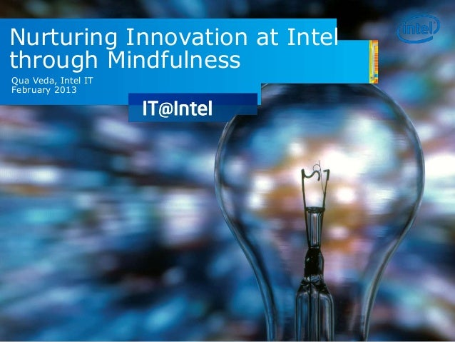 Nurturing Innovation at Intel through Mindfulness