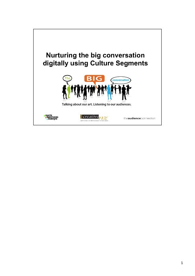 Nurturing the Big Conversation Digitally Using Culture Segments