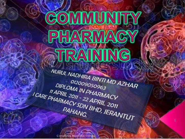 1Community Pharmacy Training