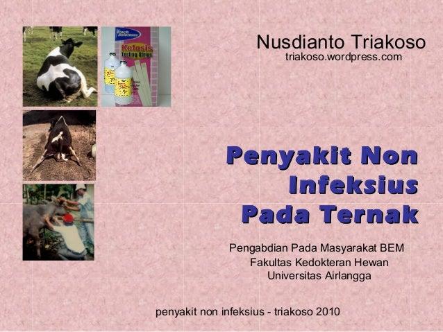 Nusdianto Triakoso triakoso.wordpress.com  Penyakit Non Infeksius Pada Ternak Pengabdian Pada Masyarakat BEM Fakultas Kedo...
