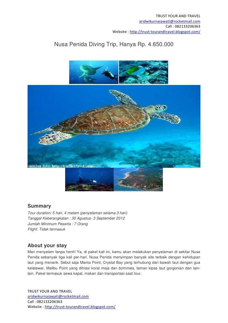 Nusa penida diving trip