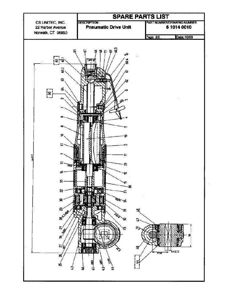 CS UNITEC                                                Air Nut Runner Motor Model 6 1014 1000 -                         ...