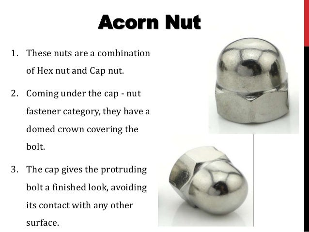 Nut and their types