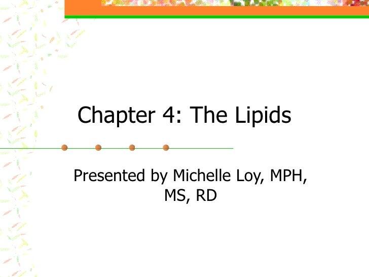 Nutr 132 Chapter 4 Boyle St