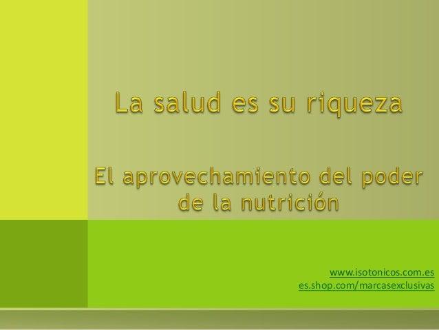 www.isotonicos.com.es es.shop.com/marcasexclusivas