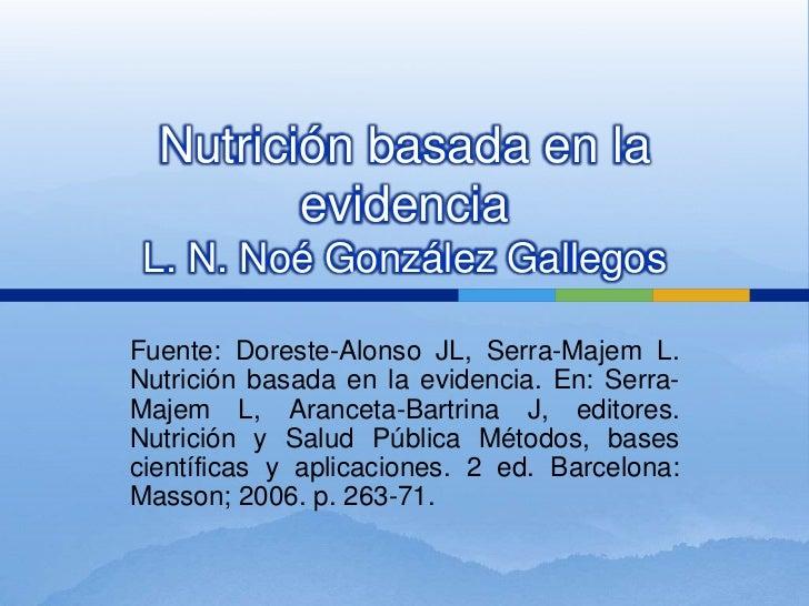 Nutrición basada en la evidencia