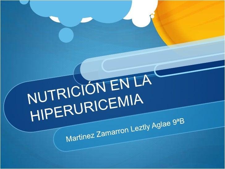 Nutrición en la hiperuricemia