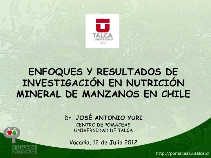 Nutrición mineral brasil comp. 2012