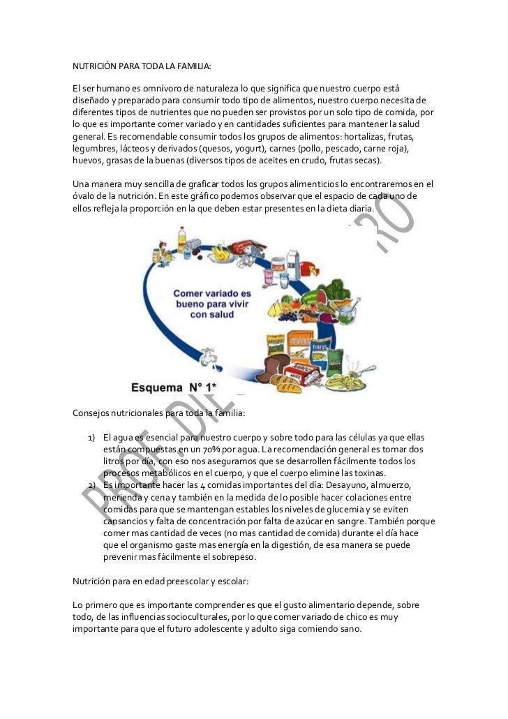 NUTRICIÓN PARA TODA LA FAMILIA:El ser humano es omnívoro de naturaleza lo que significa que nuestro cuerpo estádiseñado y ...