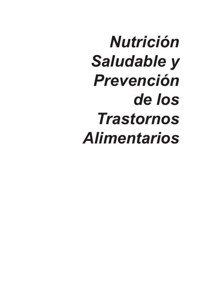 Nutrición               Saludable y               Prevención                     de los                Trastornos         ...