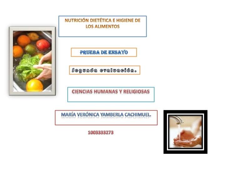 Nutrición segundo bimestre