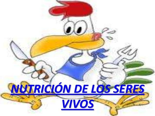 NUTRICIÓN DE LOS SERES VIVOS