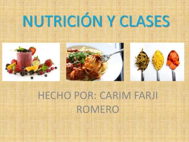 Nutrición y clases