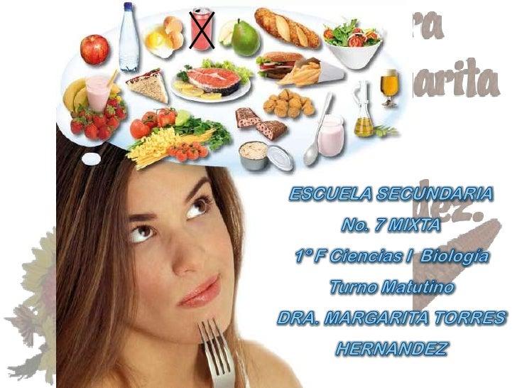 Propósito:Reflexionar que no es lo mismo nutrirse, quealimentarse; concientizarse de la importanciaen la nutrición de la i...