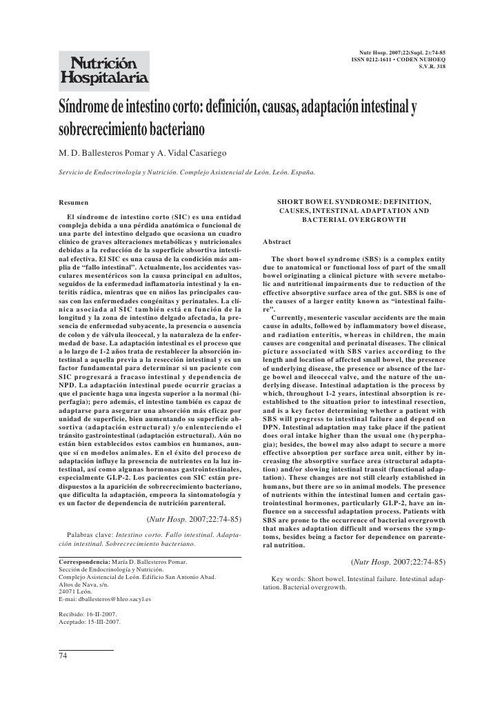 Nutr Hosp. 2007;22(Supl. 2):74-85                                                                                         ...