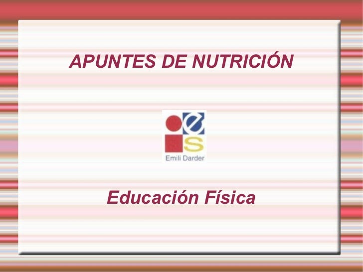 Nutricion básica