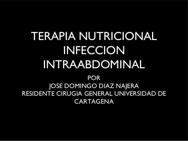 Nutricion e infeccion intraabdominal
