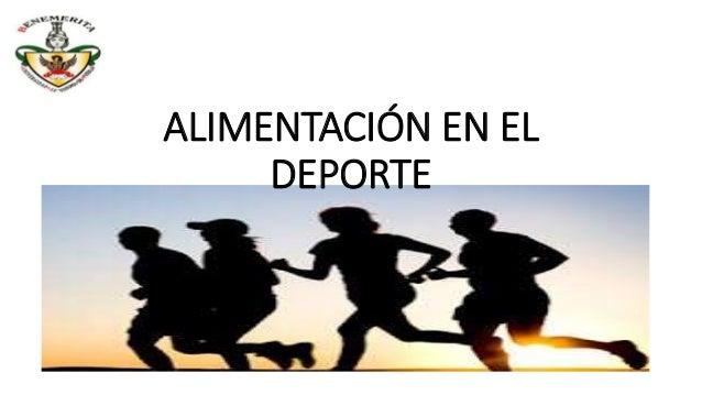 ALIMENTACIÓN EN EL DEPORTE