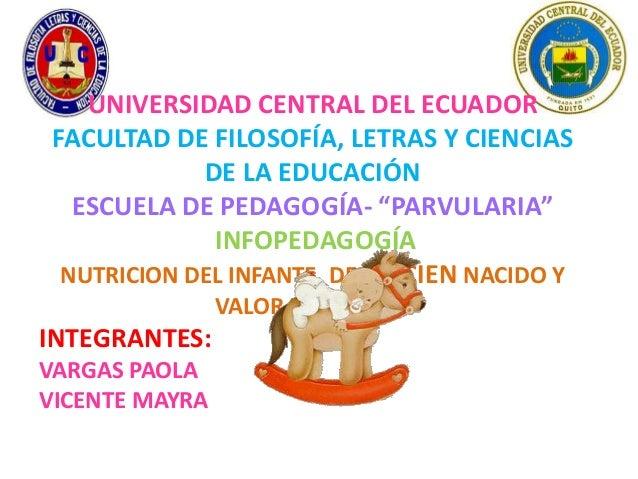 UNIVERSIDAD CENTRAL DEL ECUADOR FACULTAD DE FILOSOFÍA, LETRAS Y CIENCIAS             DE LA EDUCACIÓN   ESCUELA DE PEDAGOGÍ...