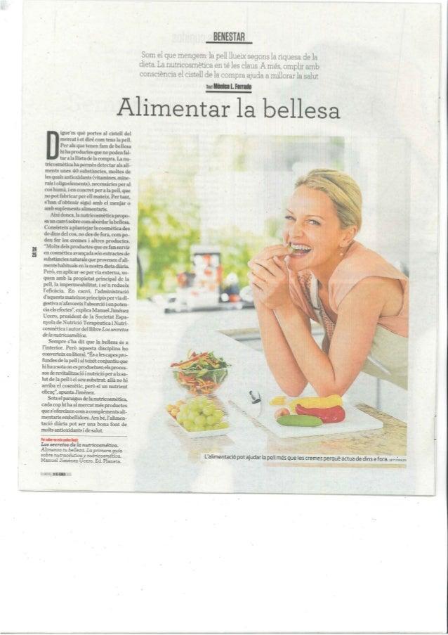 Nutricosmètica- Alimentar la bellesa