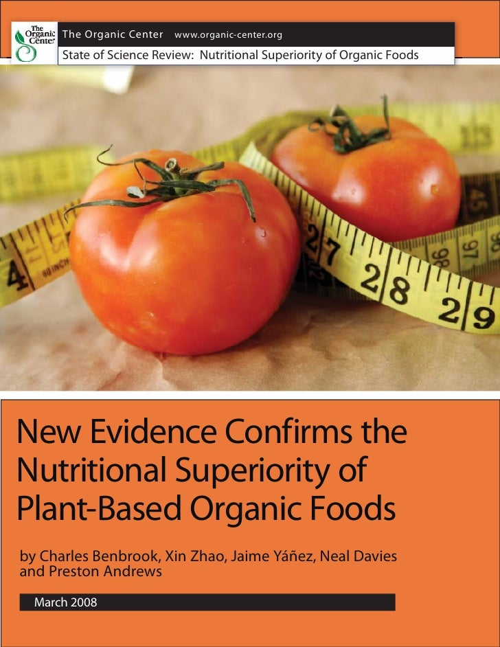Nutritional Superiority of Organic Foods