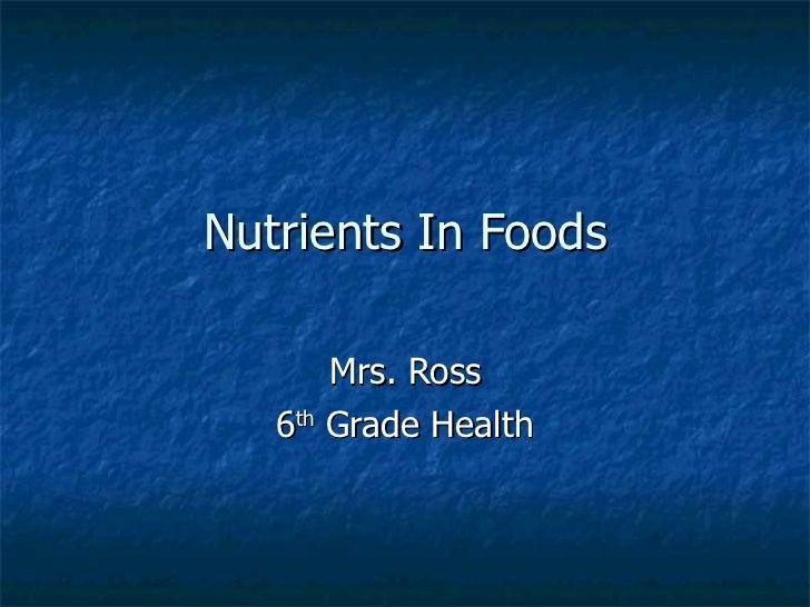 Nutrients In Foods